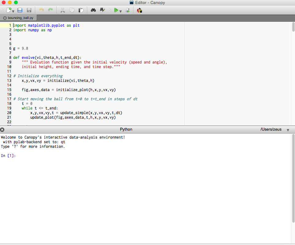 Adding Code To The First Script Py In Anaconda Spyder